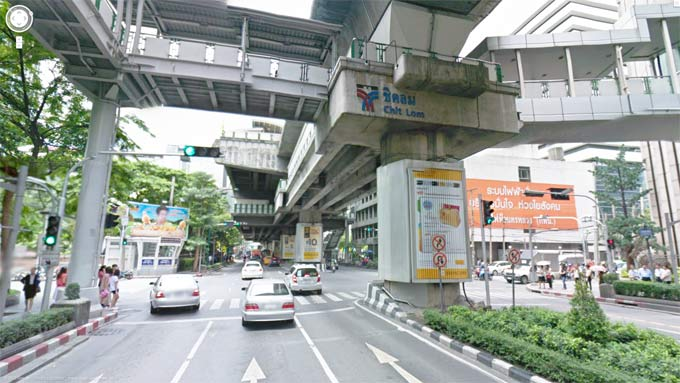 Chit Lom BTS Station Street View (Click to Enter Street View)