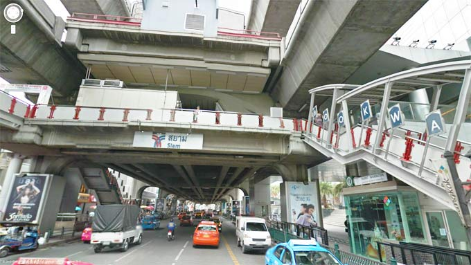Siam BTS Station Area (Click to Enter Street View)