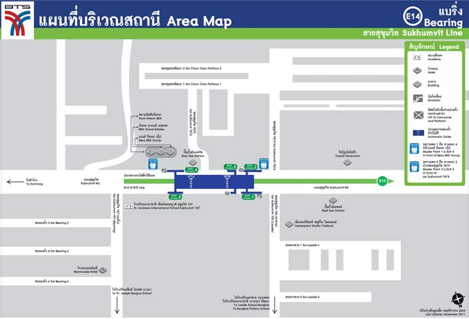 Bearing BTS Station Area Map (Click to Enlarge)