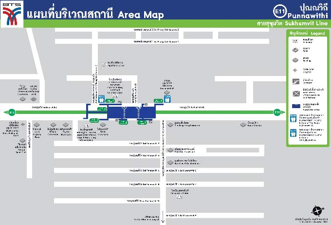 Punnawithi BTS Area Map (Click to Enlarge)