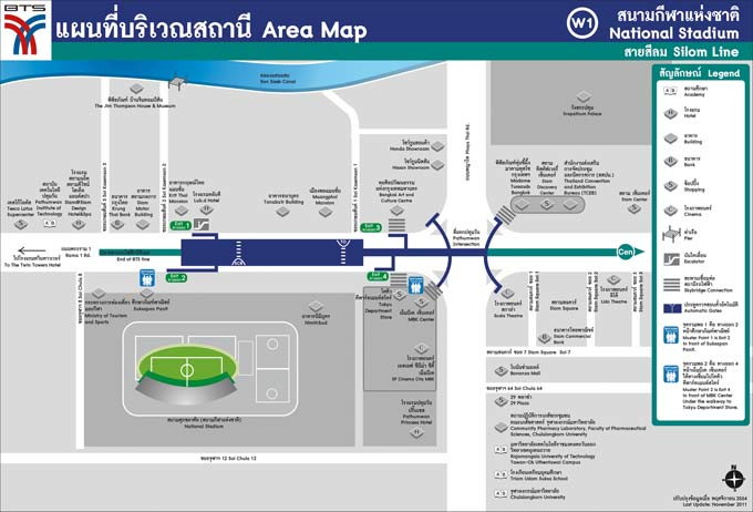 National Stadium BTS Area Map (Click to Enlarge)