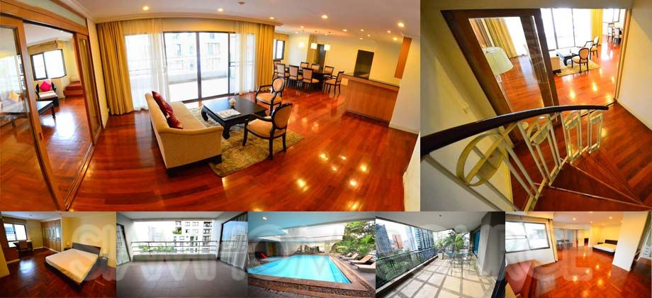 Spacious, Pet Friendly 3BR Phrom Phong Duplex Apartment