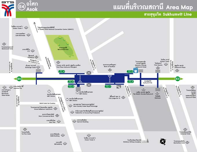 Asok BTS Area Map