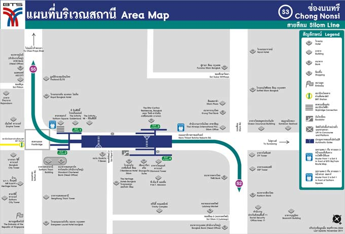 Chong Nonsi BTS Station Area Map (Click to Enlarge)