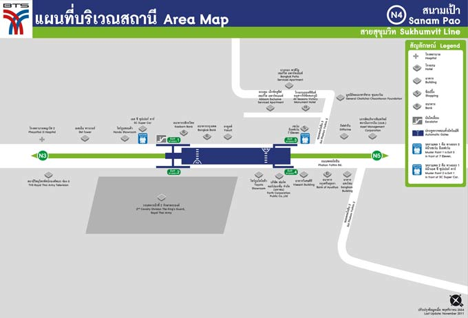 Sanam Pao BTS Area Map (Click to Enlarge)
